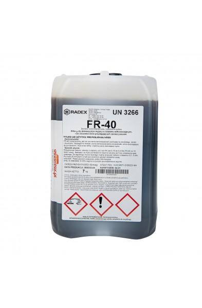 FR-40 - Silnie alkaliczny pianowy płyn myjący do usuwania mocno przylegających zanieczyszczeń