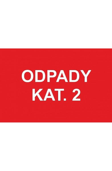 ODPADY KAT 2 (czerwona)